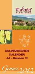 Juli August - Wein- und Sektgut Marienhof