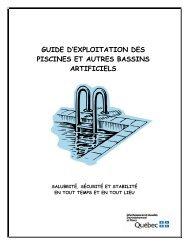 guide d'exploitation des piscines et autres bassins artificiels - rcpem