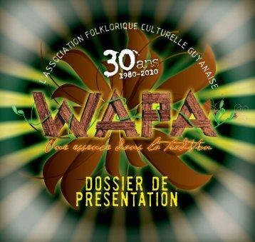Télécharger notre dossier de présentation et le programme - wapa