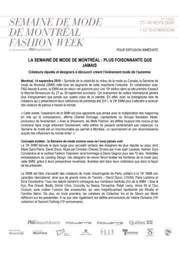 la semaine de mode de montréal : plus foisonnante que jamais