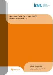Richtlijn: Birt-Hogg-Dubé Syndroom (BHD) (2.0) - Med-Info