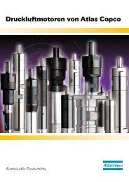 Druckluftmotoren von Atlas Copco