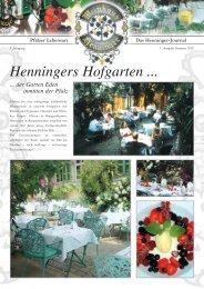 1. Ausgabe Sommer 2007 - Weinhaus Henninger