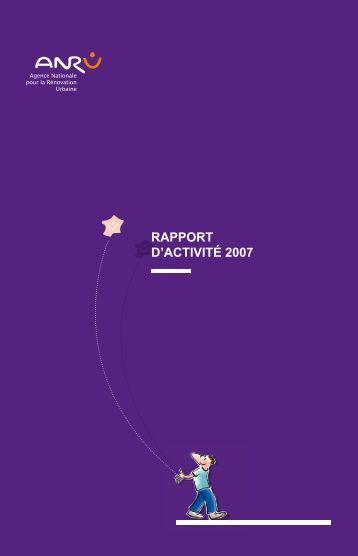 Rapport d'activité 2007 - pdf - Anru