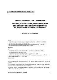 accord sur les missions des CNPE et CPREF (13 juillet 2004)