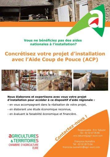 Contrat coup de pouce pr t d 39 honneur - Chambre d agriculture eure ...