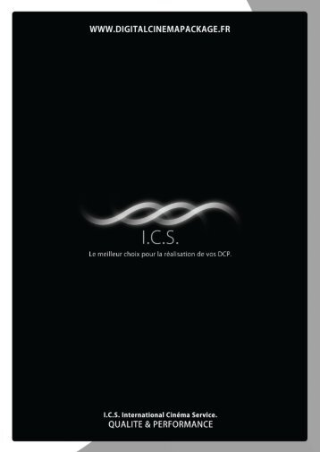 Plaquette ICS – Laboratoire Digital - International Cinema Service