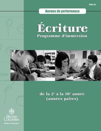 Écriture - Education