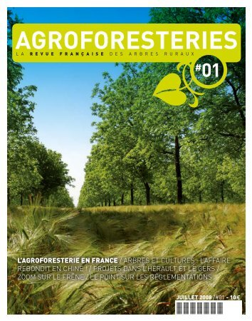 Agroforesteries n° 1 - Association Française d'Agroforesterie