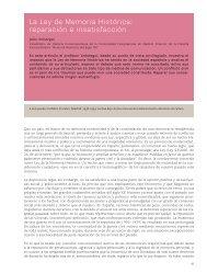 La Ley de Memoria Histórica: reparación e insatisfacción Julio ...