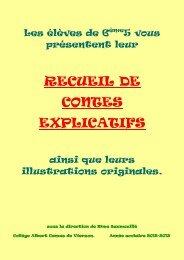 RECUEIL DE CONTES EXPLICATIFS - Collège Albert Camus de ...