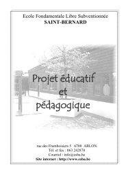Projet éducatif et pédagogique - ESBA