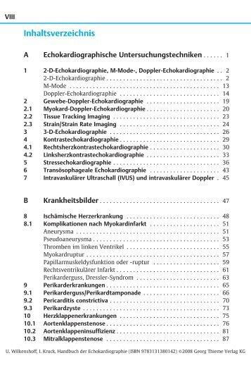 Thieme: Handbuch der Echokardiographie