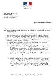 Synthèse des observations du public Objet : Projet d'arrêté cadre ...