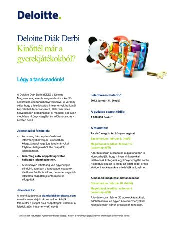 Deloitte Diák Derbi - Miskolc