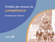 Échelles des niveaux de compétence - Ministère de l'Éducation, du ...