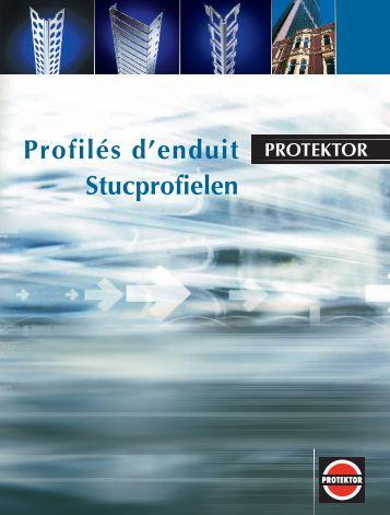 Profilés d'enduit Stucprofielen
