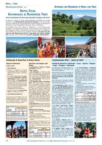 NEPAL-TOUR, KATHMANDU & RUNDREISE TIBET