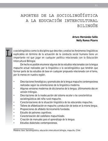 aportes de la sociolingüística a la educación intercultural bilingüe