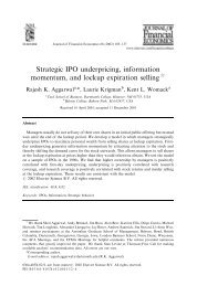 Strategic IPO underpricing, information momentum, and lockup ...