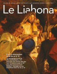 Avril 2011 Le Liahona - The Church of Jesus Christ of Latter-day ...
