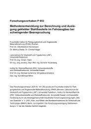 Abschlussbericht des AiF Vorhabens Nr. 141ZN