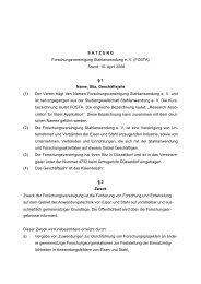 SATZUNG Forschungsvereinigung Stahlanwendung e. V. (FOSTA)