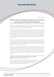 Metals industry publishes declaration promoting recycling for ...