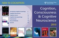 Cognition, Consciousness & Cognitive Neuroscience - Routledge