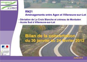RN21 Bilan Concertation Juillet_2012-1 - Préfecture de Lot-et ...