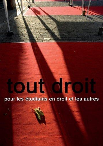 Tout Droit Automne 2009 - Université de Lausanne