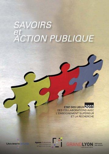 SAVOIRS et ACTION PUBLIQUE