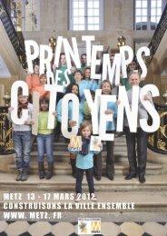 actes du Printemps des Citoyens 2012 - Ville de Metz