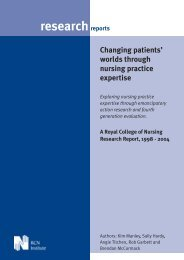 Changing patients' worlds through nursing practice expertise - RCN