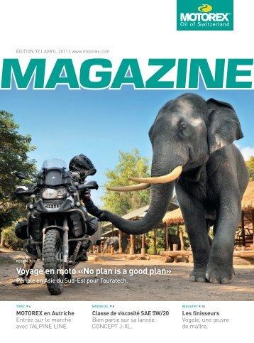Voyage en moto «No plan is a good plan» - Motorex