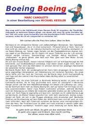 Boeing Boeing - THOMAS SESSLER - Verlag