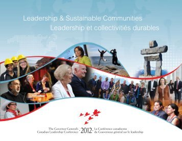 le rapport final de la conférence 2012 - The Governor General's ...