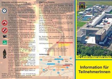 Informationsfolder für Teilnehmer