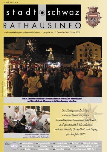Rathausinfo Ausgabe Dezember 2009 - Schwaz
