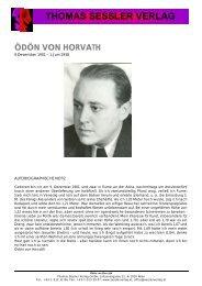 ÖDÖN VON HORVATH - THOMAS SESSLER - Verlag