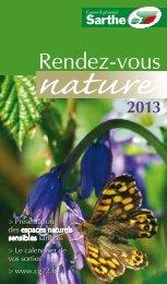 Rendez-vous nature 2013 - Conseil général de la Sarthe