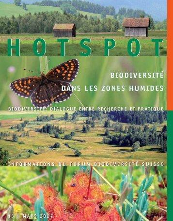 Biodiversité dans les zones humides - Swiss Biodiversity Forum