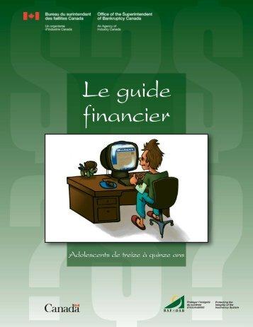 FR 13-15 ans.qxd - Publications du gouvernement du Canada