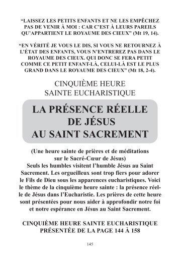 la présence réelle de jésus au saint sacrement - Adoration ...