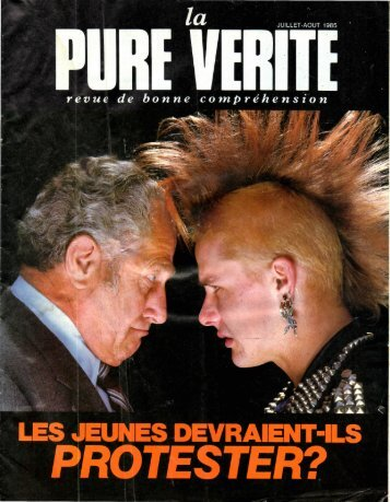 Pure Verite 1985 (No 06) Jui-Aou - Herbert W. Armstrong Library ...