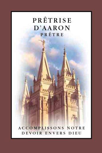 Prêtrise d'Aaron (Prêtre) Accomplissons notre devoir envers Dieu