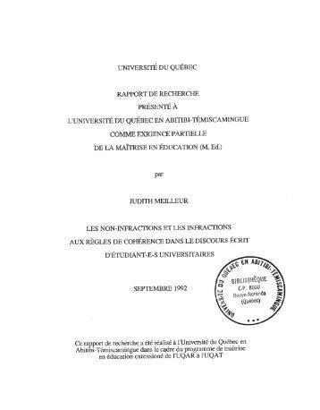 Télécharger (2021Kb) - DEPOSITUM - Université du Québec en ...