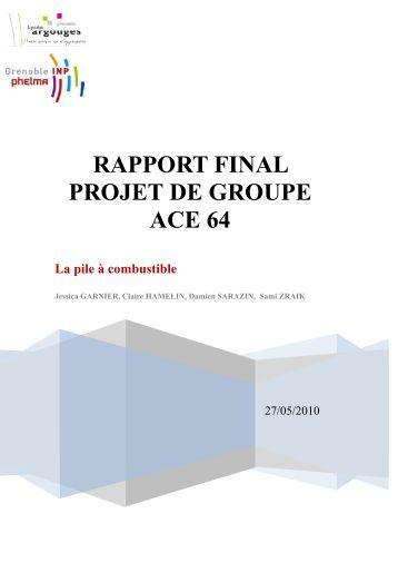 Rapport final sur le projet