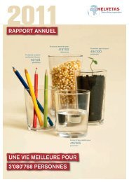 Rapport annuel 2011 - Helvetas