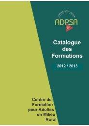 Catalogue des formations 2012-2013 - ADPSA Aveyron
